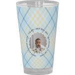 Baby Boy Photo Drinking / Pint Glass (Personalized)
