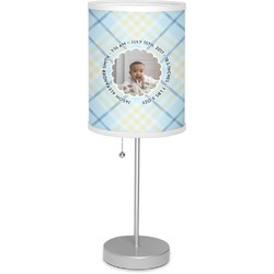 "Baby Boy Photo 7"" Drum Lamp with Shade (Personalized)"