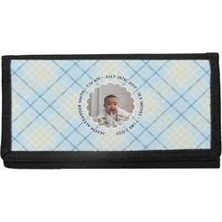 Baby Boy Photo Canvas Checkbook Cover (Personalized)