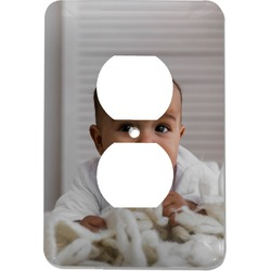 Baby Boy Photo Electric Outlet Plate (Personalized)