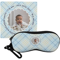 Baby Boy Photo Eyeglass Case & Cloth (Personalized)
