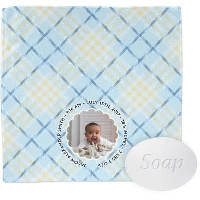 Baby Boy Photo Wash Cloth (Personalized)