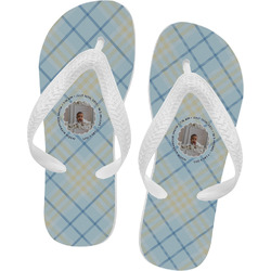 Baby Boy Photo Flip Flops (Personalized)