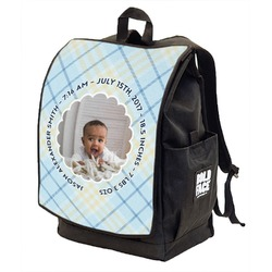 Baby Boy Photo Backpack w/ Front Flap  (Personalized)