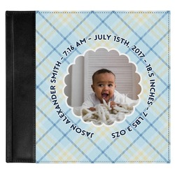 Baby Boy Photo Genuine Leather Baby Memory Book (Personalized)