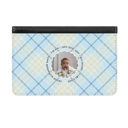 Baby Boy Photo Genuine Leather ID & Card Wallet - Slim Style (Personalized)