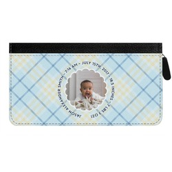 Baby Boy Photo Genuine Leather Ladies Zippered Wallet (Personalized)
