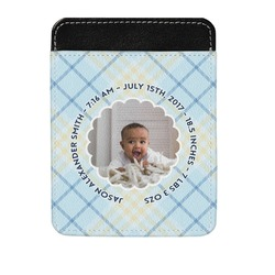 Baby Boy Photo Genuine Leather Money Clip (Personalized)