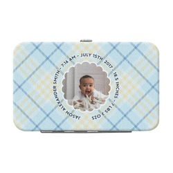 Baby Boy Photo Genuine Leather Small Framed Wallet (Personalized)