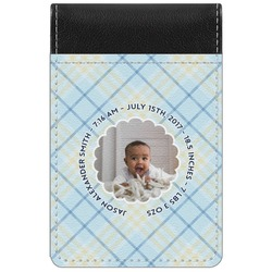 Baby Boy Photo Genuine Leather Small Memo Pad (Personalized)