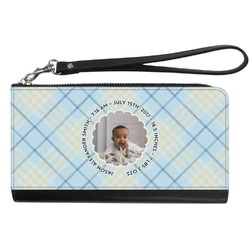 Baby Boy Photo Genuine Leather Smartphone Wrist Wallet (Personalized)