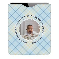 Baby Boy Photo Genuine Leather iPad Sleeve (Personalized)