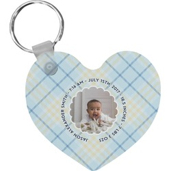 Baby Boy Photo Heart Keychain (Personalized)