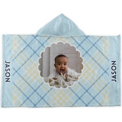 Baby Boy Photo Kids Hooded Towel (Personalized)