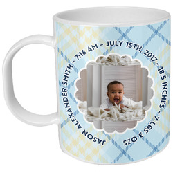 Baby Boy Photo Plastic Kids Mug (Personalized)