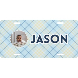 Baby Boy Photo Front License Plate (Personalized)