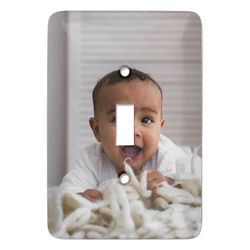 Baby Boy Photo Light Switch Covers - Multiple Toggle Options Available (Personalized)
