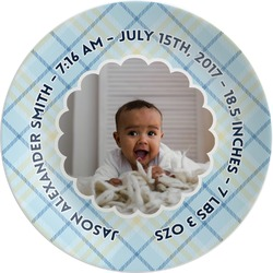 Baby Boy Photo Melamine Plate (Personalized)