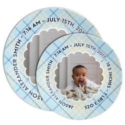 Baby Boy Photo Melamine Plate (Personalized)