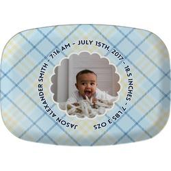 Baby Boy Photo Melamine Platter (Personalized)