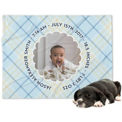 Baby Boy Photo Minky Dog Blanket (Personalized)