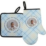 Baby Boy Photo Oven Mitt & Pot Holder (Personalized)