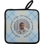 Baby Boy Photo Pot Holder
