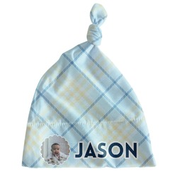 Baby Boy Photo Newborn Hat - Knotted (Personalized)
