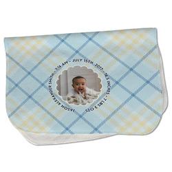 Baby Boy Photo Burp Cloth - Fleece
