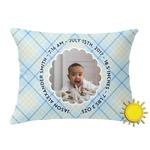 Baby Boy Photo Outdoor Throw Pillow (Rectangular) (Personalized)