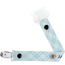 Baby Boy Photo Pacifier Clips (Personalized)