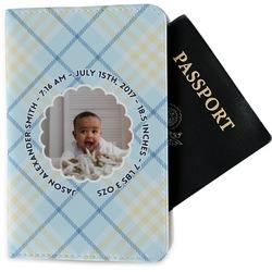 Baby Boy Photo Passport Holder - Fabric (Personalized)