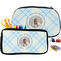 Baby Boy Photo Pencil / School Supplies Bag (Personalized)