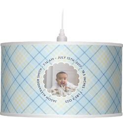 Baby Boy Photo Drum Pendant Lamp (Personalized)