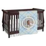 Baby Boy Photo Baby Blanket (Personalized)