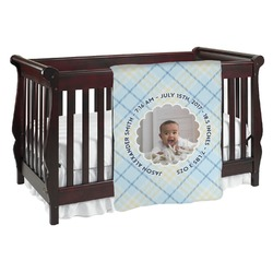 Baby Boy Photo Baby Blanket (Personalized)