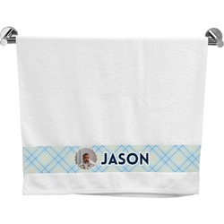 Baby Boy Photo Bath Towel (Personalized)