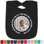Baby Boy Photo Baby Bib - 14 Bib Colors (Personalized)