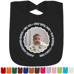 Baby Boy Photo Baby Bib - 14 Bib Colors (Personalized)