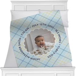 Baby Boy Photo Minky Blanket (Personalized)