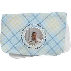 Baby Boy Photo Burp Cloth (Personalized)