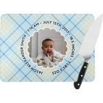 Baby Boy Photo Rectangular Glass Cutting Board (Personalized)