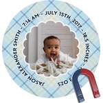 Baby Boy Photo Round Fridge Magnet