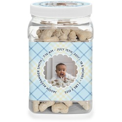 Baby Boy Photo Pet Treat Jar (Personalized)
