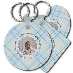 Baby Boy Photo Plastic Keychains