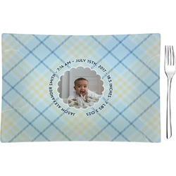 Baby Boy Photo Rectangular Glass Appetizer / Dessert Plate - Single or Set (Personalized)