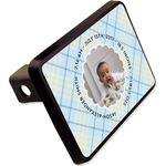 """Baby Boy Photo Rectangular Trailer Hitch Cover - 2"""" (Personalized)"""