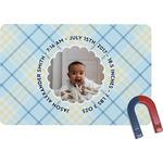 Baby Boy Photo Rectangular Fridge Magnet (Personalized)