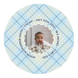 Baby Boy Photo Round Decal (Personalized)