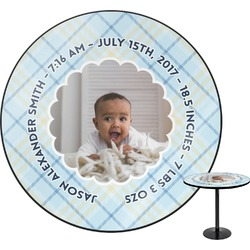 Baby Boy Photo Round Table (Personalized)